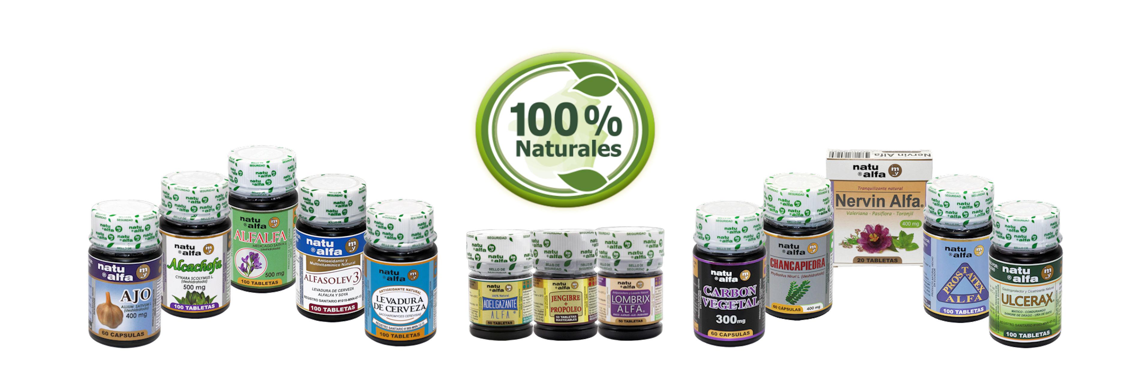 Productos naturales con plantas medicinales
